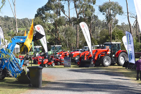 We have tractors, mowers and more on display