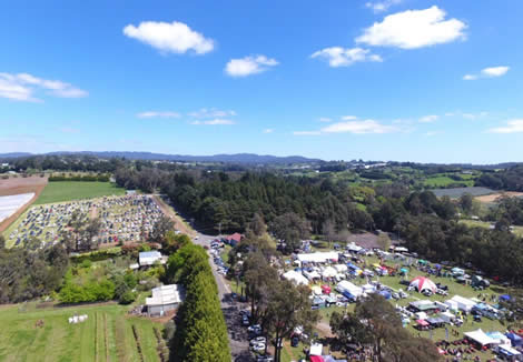 Wandin Silvan Field Days 2017 aerial view